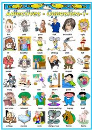 Worksheet Personality Adjectives For Children english teaching worksheets adjectives pictionary opposites bw version included