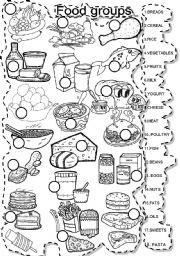 English Worksheet: FOOD GROUPS MATCH