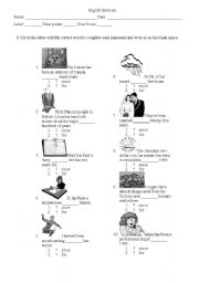 English Worksheets: Talking about things