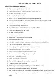 English Worksheets: subjunctives and unreal pasts