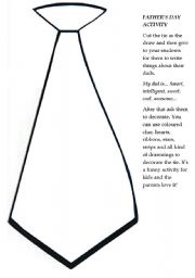 English Worksheet: Father´s Day Tie