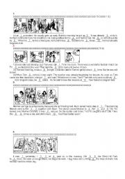 English Worksheets: Talk about the pictures 1