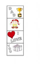 English worksheet: Dad´s day activity - girl