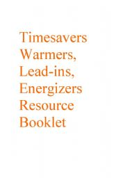 Timesavers Warmers and Energizers Resource Booklet