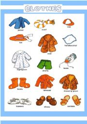 English Worksheet: CLOTHES PICTIONARY 1