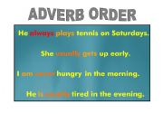 English Worksheet: Adverb of Frequency Order