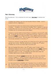 English Worksheets: Hogmanay