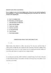English Worksheet: FCE Multiple Matching Reading