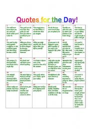 English Worksheets: quotes