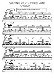 There is/There are Train (2 pages)