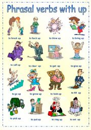 English Worksheets: Phrasal verbs with up