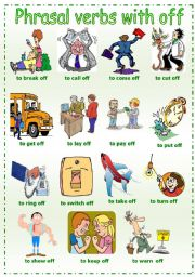 English Worksheet: Phrasal verbs with off
