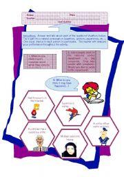 English Worksheets: Oral Activity