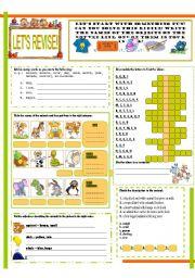 English Worksheets: LET�S REVISE! (1)