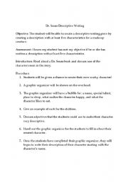 descriptive essay lesson plan