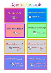 English Worksheets: question cards 25-40