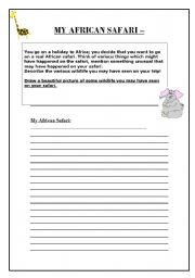 English Worksheets: My African Safari