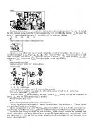 English Worksheets: Talk about the pictures