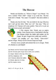 English Worksheets: The Resue