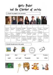 Harry Potter and the Chamber of Secrets (TWO PAGES activities+watching task!)FULLY EDITABLE!