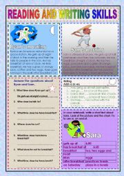 English Worksheets: Reading and writing worksheet