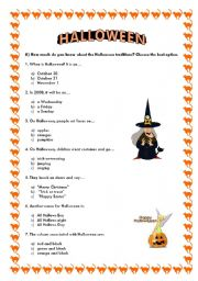 english worksheet halloween quiz - Halloween Quiz For Kids