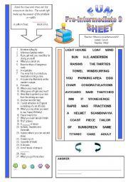 English Worksheets: Fun Sheet Pre-Intermediate 9