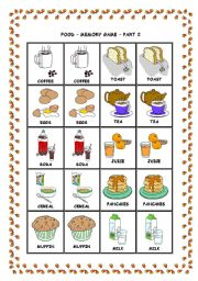 English Worksheets: MEMORY GAME - PART 2
