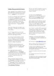 English Worksheet: NIE: Swine Flu Spreads In Korea