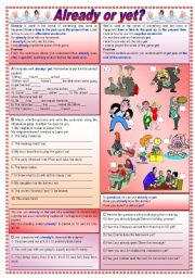 English Worksheets: Already or yet? - Grammar guide + exercises (fully editable - keys included)