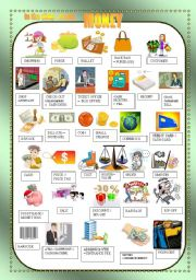 english worksheets money in the shop nouns pictionary. Black Bedroom Furniture Sets. Home Design Ideas
