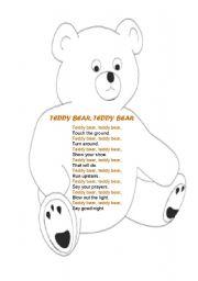 English Worksheets: Teddy Bear Rhyme