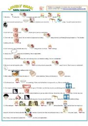 graphic about Table Manners for Kids Printable named Desk manners worksheets