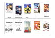 English Worksheet: Film genres handout/flashcards