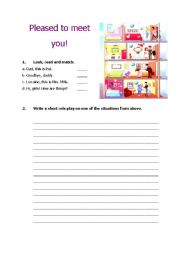 English Worksheets: introduction and greetings