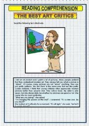 English Worksheets: READING COMPREHENSION -