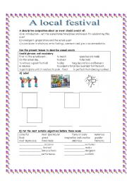 English Worksheets: A LOCAL FESTIVAL