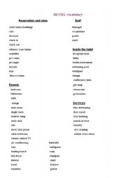 English Worksheets Hotel Page 44