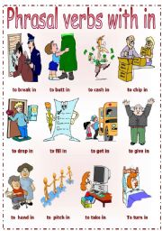 English Worksheet: Phrasal verbs with in