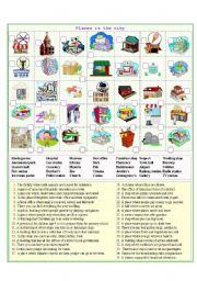 English worksheet: Places in the city 1