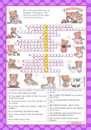 HOUSEWORK   (3/3)  - Crosswordpuzzle for Upper elementary students