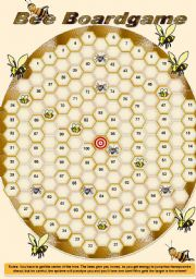 English Worksheet: Bee boardgame (fully editable)