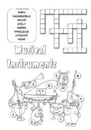 English Worksheet: Musical Instruments