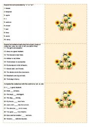 English Worksheet: Bee cards - elementary (to be used with the Bee board game) - review with 100 questions - fully editable