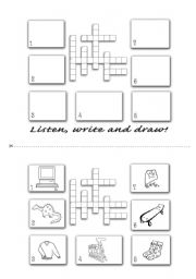 English Worksheet: Spelling Crossword
