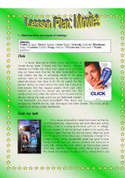 English Worksheets: Lesson Plan_Movies