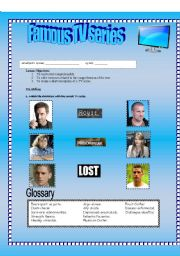 English Worksheets: Famous TV series