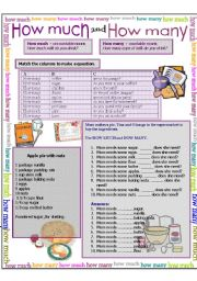 english worksheet how much how many. Black Bedroom Furniture Sets. Home Design Ideas