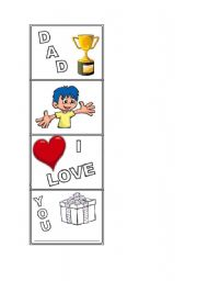 English worksheet: Dad´s day activity - boy