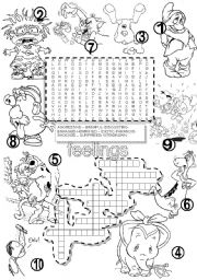 FEELINGS #1 WORDSEARCH and CRISS CROSS PUZZLE